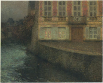 House by the Quentin Canal | Henri Le Sidaner | oil painting