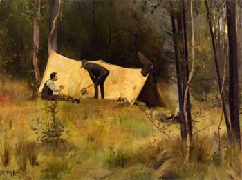 The Artists Camp | Tom Roberts | oil painting