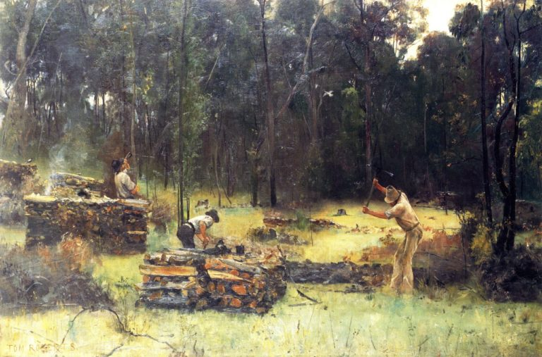 Charcoal Burners | Tom Roberts | oil painting