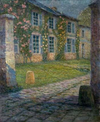 House with Roses | Henri Le Sidaner | oil painting