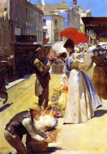 Christmas Flowers and Christmas Belles | Tom Roberts | oil painting