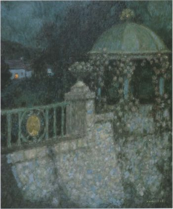 In the full moon | Henri Le Sidaner | oil painting