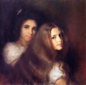 Elizabeh and Carmen Pinschof | Tom Roberts | oil painting