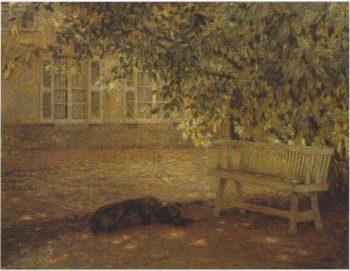 Le banc | Henri Le Sidaner | oil painting