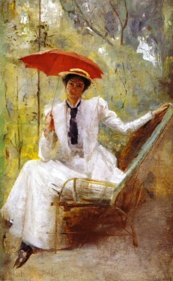 Lady with a Parasol | Tom Roberts | oil painting