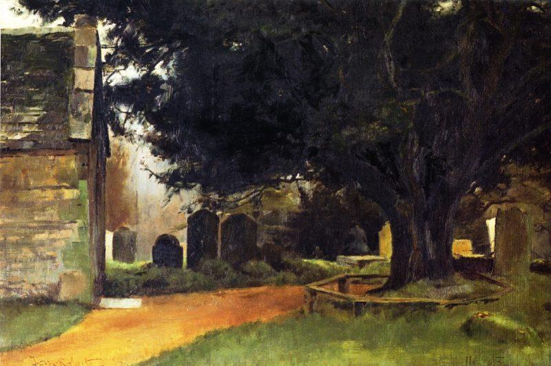 Churchyard at Shillingstone | Tom Roberts | oil painting