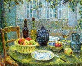 Le Table de Pierre Gerberoy | Henri Le Sidaner | oil painting