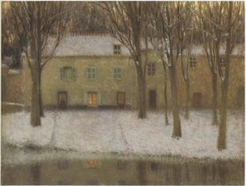 Little place by the river | Henri Le Sidaner | oil painting