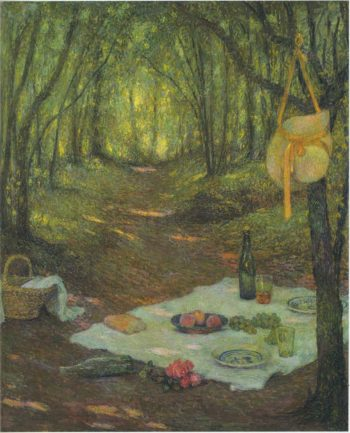 Lunch in the Woods at Gerberoy | Henri Le Sidaner | oil painting