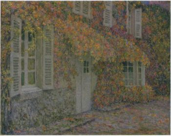 Mansion in Autumn | Henri Le Sidaner | oil painting