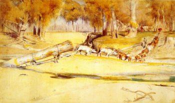 Lumbering | Tom Roberts | oil painting