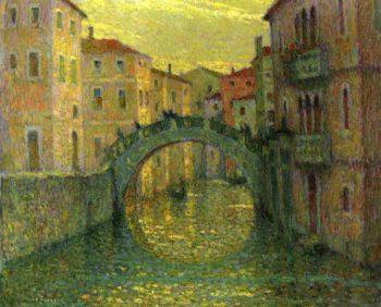 Morning Sunshine Venice | Henri Le Sidaner | oil painting