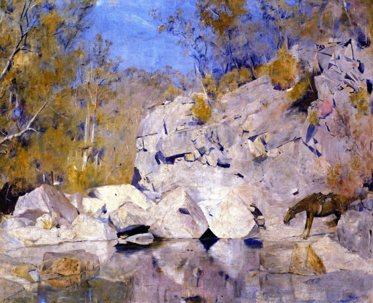 In a Corner on the Macintyre | Tom Roberts | oil painting