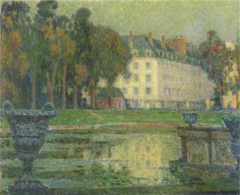 Neptune Fountain at twilight | Henri Le Sidaner | oil painting