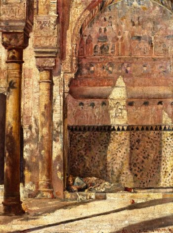 Basking A Corner in the Alhambra | Tom Roberts | oil painting