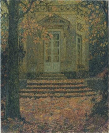 Pavilion of Music in Autumn | Henri Le Sidaner | oil painting