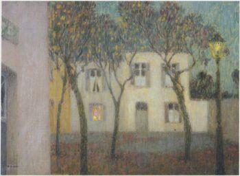 Place du Village | Henri Le Sidaner | oil painting