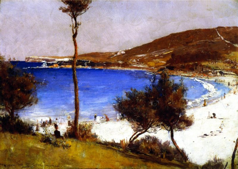 Holiday Sketch at Coogee | Tom Roberts | oil painting