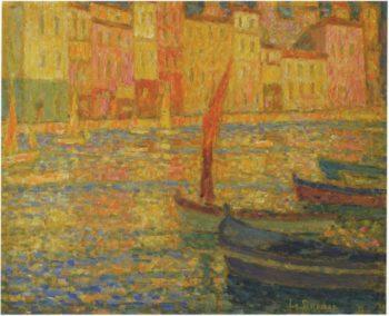 Port at Villefranche | Henri Le Sidaner | oil painting