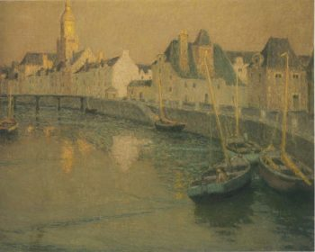 Port Croisic in full moon | Henri Le Sidaner | oil painting