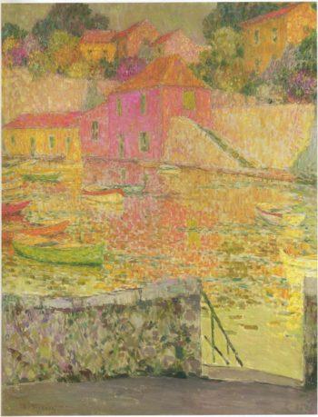 Port Saint Jean at Cap Ferrat | Henri Le Sidaner | oil painting