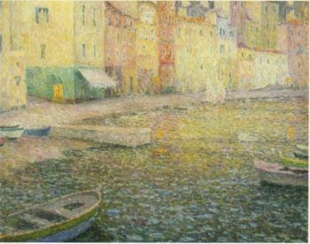 Quay at Twilight | Henri Le Sidaner | oil painting
