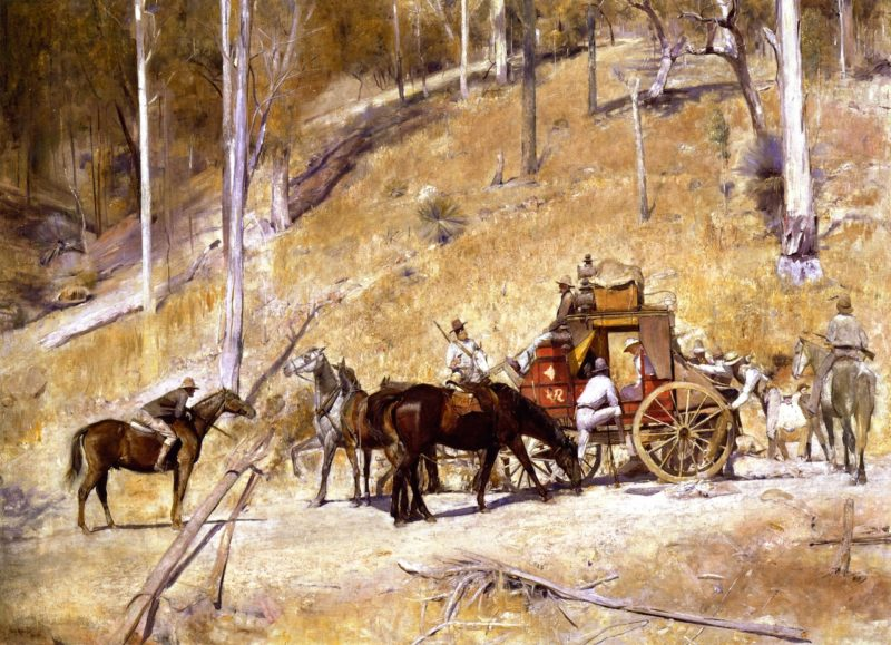 Bailed Up   Tom Roberts   oil painting