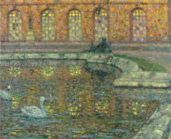 Reflections of the Windows at Versailles | Henri Le Sidaner | oil painting