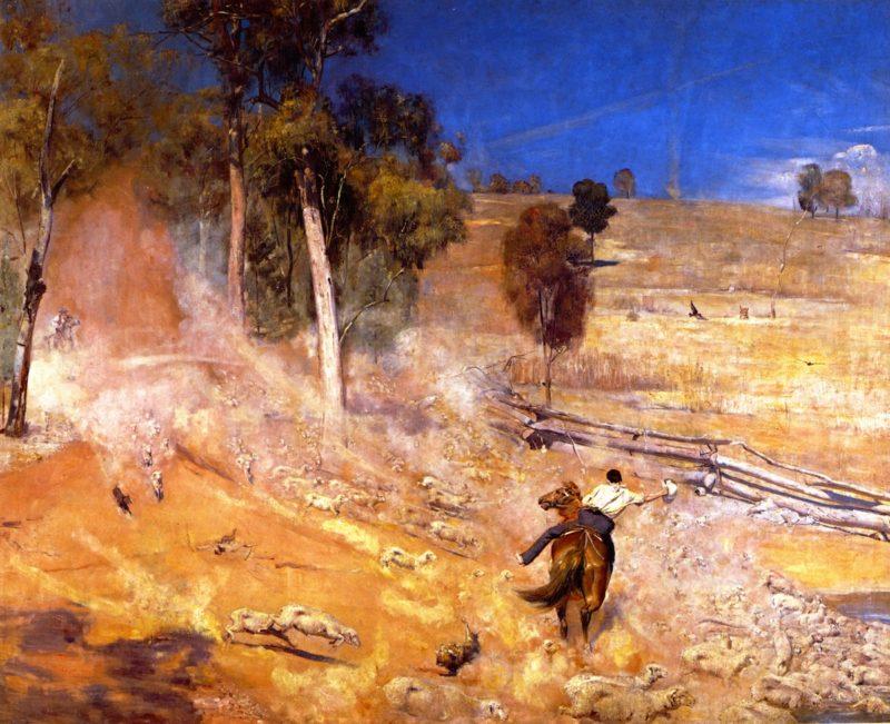 A Break Away | Tom Roberts | oil painting