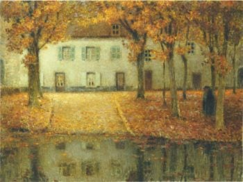 Small house by the Eau River at Chartres | Henri Le Sidaner | oil painting