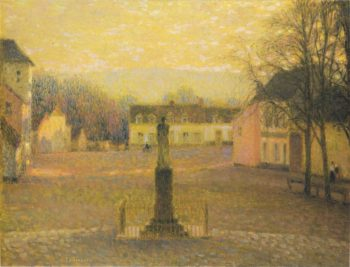 Small Villa in Afternoon | Henri Le Sidaner | oil painting
