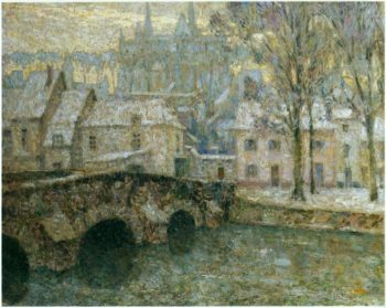 Snow at Chartres | Henri Le Sidaner | oil painting