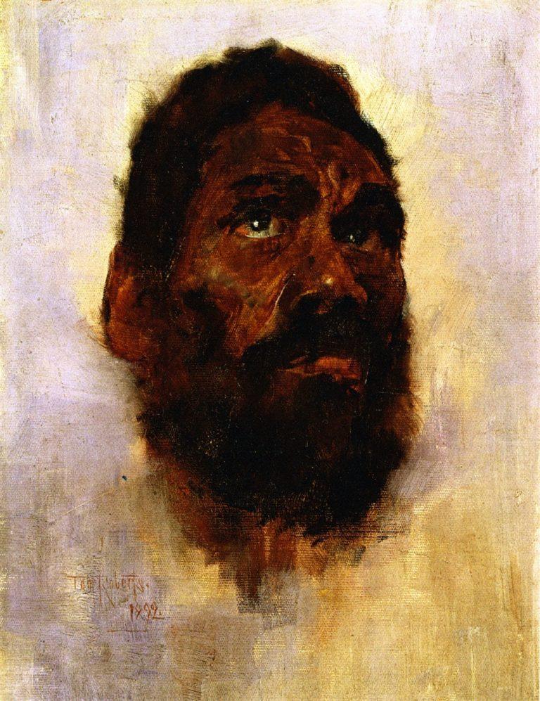 Aboriginal Head Charlie Turner   Tom Roberts   oil painting