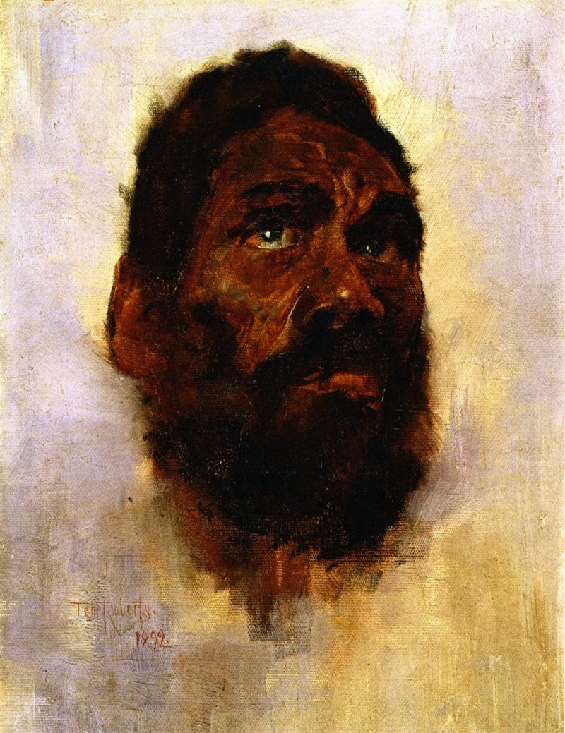 Aboriginal Head Charlie Turner | Tom Roberts | oil painting