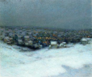 Snow in the Moonlight | Henri Le Sidaner | oil painting