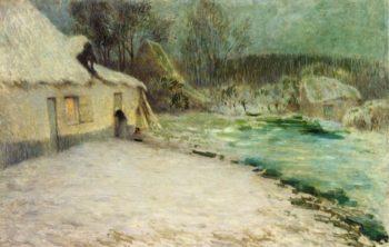 Snowy Evening Etaples | Henri Le Sidaner | oil painting