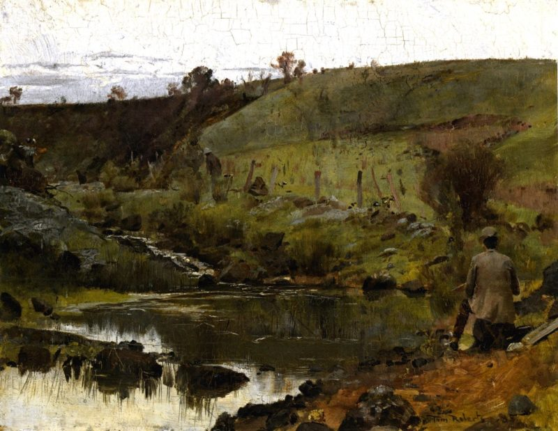 A Quiet Day on the Darebin Creek | Tom Roberts | oil painting