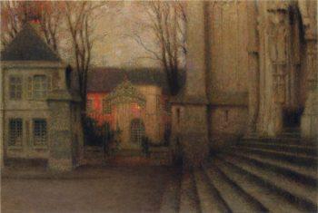 Steps at Chartes | Henri Le Sidaner | oil painting