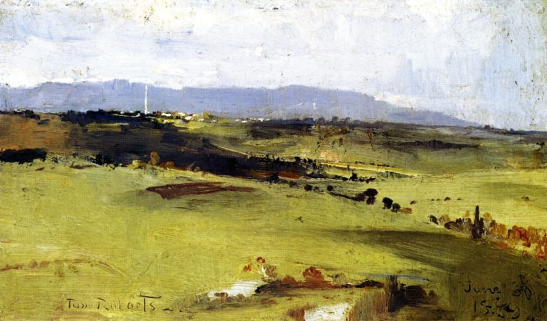Across to the Dandenongs | Tom Roberts | oil painting