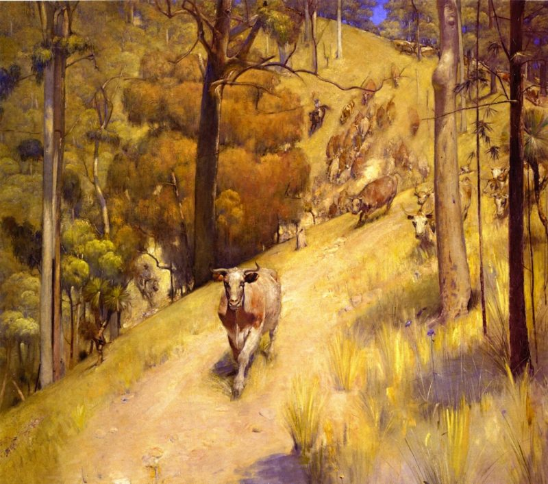 A Mountain Mustery | Tom Roberts | oil painting