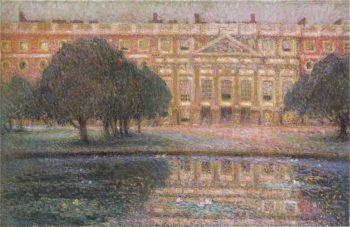 Summer Afternoon at the palace of Hampton Court | Henri Le Sidaner | oil painting