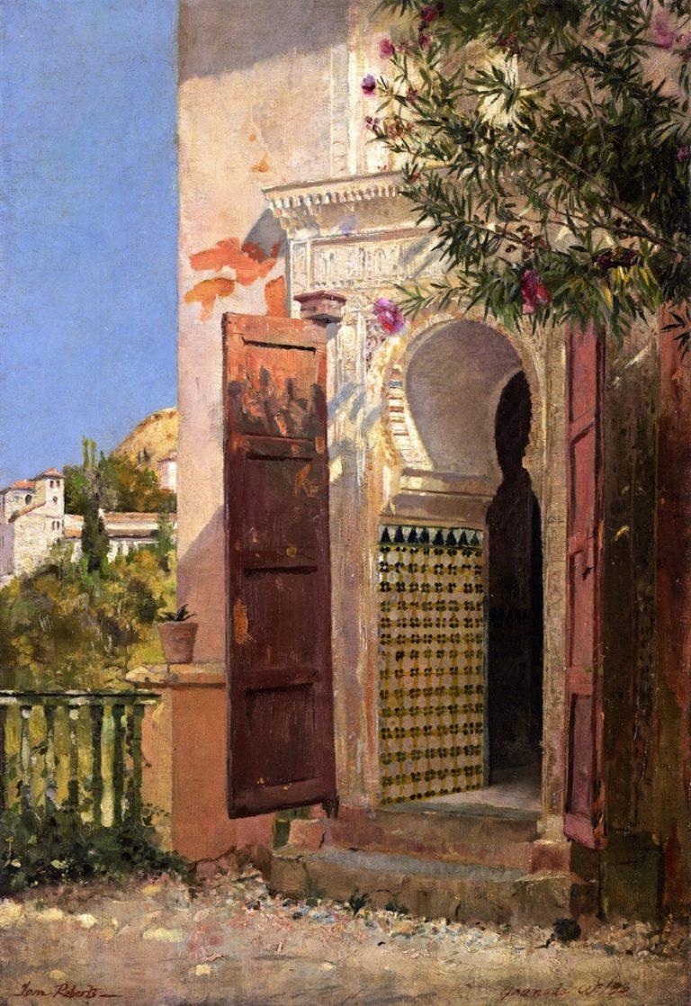 A Moorish Doorway | Tom Roberts | oil painting