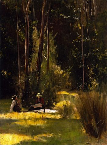 A Sunday Afternoon Picnic at Box Hill | Tom Roberts | oil painting
