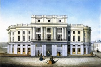 French Opera House | Marie Adrien Persac | oil painting