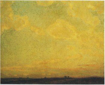 Sunset | Henri Le Sidaner | oil painting