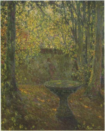 Table among the Trees | Henri Le Sidaner | oil painting