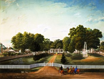 Faye Plantation | Marie Adrien Persac | oil painting