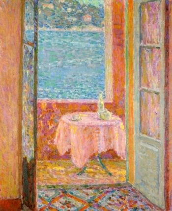 Table by the Sea Villefranche sur Mer | Henri Le Sidaner | oil painting