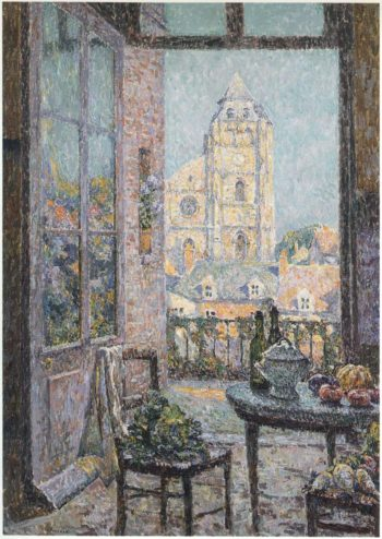 Table by the Window | Henri Le Sidaner | oil painting