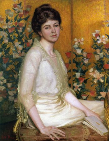 The Poppy Screen | Lilla Cabot Perry | oil painting